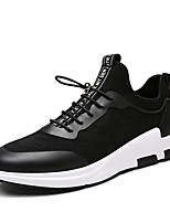 Men's Sneakers Spring Fall Comfort PU Casual Lace-up Black