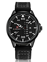 NAVIFORCE Men's Sport Watch Fashion Watch Wrist watch Casual Watch Quartz Calendar PU Band Luxury Cool Unique Watches