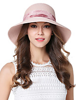 Women's Straw Bucket Hat Straw Hat,Vintage Cute Party Work Casual Patchwork Spring Summer Fall