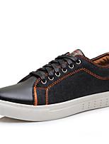 Men's Sneakers Summer Fall Comfort Canvas Outdoor Casual Athletic Walking Flat Heel Split Joint Black Navy Blue Light Blue