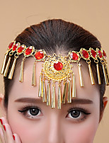 Belly Dance Headpieces Women's Performance Metal Crystals/Rhinestones 1 Piece