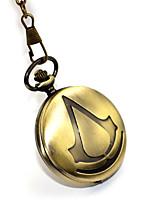 Inspirado por Assassino Connor Anime/Vídeo Games Acessórios para Cosplay Relógio Dourado Liga