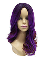 Capless Wave Synthteic Long Purple Two Tone Cosplay Hair Wig