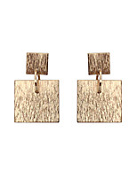 Drop Earrings Jewelry Unique Design Tag Geometric Square Euramerican Fashion Personalized Hypoallergenic Statement Jewelry Classic Brass