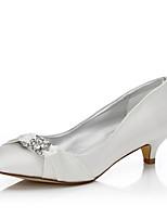 Damen-Hochzeit Schuhe-Hochzeit Outddor Büro Kleid Party & Festivität-Seide-Niedriger Absatz-Komfort einfärbbar Schuhe-Elfenbein