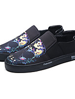 Men's Loafers & Slip-Ons Spring Fall Comfort Mary Jane Rubber PU Outdoor Office & Career Casual Black