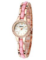 Женские Модные часы Часы-браслет Кварцевый сплав Группа Черный Серебристый металл Золотистый Розовый
