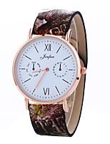 Hombre Mujer Reloj de Vestir Reloj de Moda Reloj de Pulsera Chino Cuarzo Piel Banda Encanto Múltiples Colores