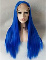 Longue perruque frontale en dentelle couleur résistante à la chaleur