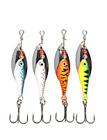4 pcs Spinner Baits Fishing Lures Buzzbait & Spinnerbait Green Orange Silver Blue g/Ounce mm/2-5/8