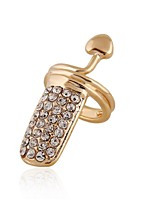 Ring Euramerican Personalized Rhinestone Chrome Jewelry For Wedding Party Special Occasion 1pc