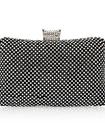 Women Bags All Seasons Polyester Evening Bag with Rhinestone for Wedding Event/Party Formal Gold Black Silver