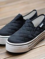 Da donna-Sneakers-Casual-Con cinghia-Piatto-PU (Poliuretano)-Bianco Nero Rosso