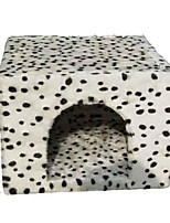 Cat Bed Pet Baskets Polka Dots Soft White