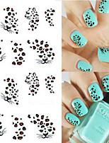 5pcs/set Nail Art Water Transfer Sticker Fashion Leopard Design Nail Art Beauty Polish DIY Sexy Leopard Decoration Decals STZ-049