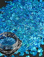 1 bouteille nouvelle mode jolie ciel bleu design ongle art rhombus rayure laser fine tranche diy beauté paillettes éblouissante décoration