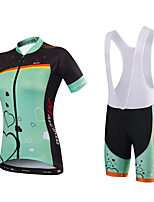 Cycling Jersey with Shorts Women's Short Sleeve Bike Padded Shorts/Chamois Bib Tights Jersey Tops Clothing SuitsQuick Dry Anatomic Design