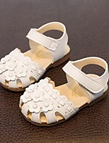 Kids' Baby Sandals First Walkers Leatherette Summer Casual First Walkers Flat Heel White Flat