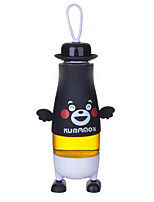 380ml Cartoon Portable Glass Water Juice Bottle