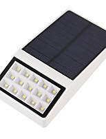 1pcs outdoor solar powered 15 levou segurança parede montagem jardim luzes percurso lâmpada jarda