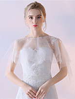 Women's Wrap Capelets Lace Tulle Wedding Party/Evening Lace