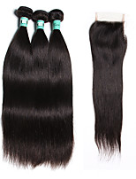 Natural Color Hair Weaves Indian Texture Straight 18 Months 4 Pieces hair weaves