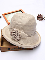 Womens Fashion Handmade Artificial Flower Cotton Floral Summer Or Spring Simple Sun Heart Print Bucket Hats Caps