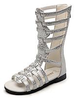 Girls' Sandals Summer Gladiator Comfort Leatherette Outdoor Office & Career Party & Evening Dress Casual Flat Heel Zipper Black White
