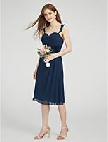LAN TING BRIDE Knee-length Straps Bridesmaid Dress - Beautiful Back Sleeveless Chiffon