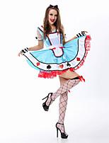 Costumes de Cosplay Princesse Conte de Fée Tenus de Servante Cosplay de Film Robe Coiffure Halloween Carnaval Nouvel an Féminin Térylène