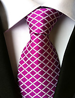 Men's Polyester Neck TieWork Casual Houndstooth All Seasons W0016
