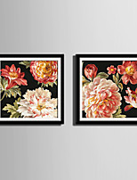 E-HOME® Framed Canvas Art Riches And Honour Flowers Framed Canvas Print One Pcs