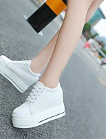 Women's Flats Spring Creepers Fabric Casual Creepers Black White