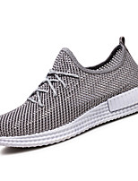 Men's Sneakers Spring Fall Comfort PU Outdoor Flat Heel Lace-up