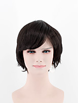 Fashion lady short paragraph perruque black side bangs naturel chanson haute température fil perruque
