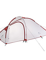 3-4 personnes Tente Double Tente pliable Une pièce Tente de camping Aluminium Nylon Silicone Pliable Portable-Camping Extérieur-Gris