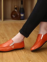 -Для мужчин-Повседневный-Дерматин Полиуретан-На плоской подошве-Удобная обувь-Мокасины и Свитер