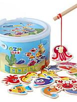 Конструкторы Обучающая игрушка Рыболовные игрушки Для получения подарка Конструкторы Цилиндрическая Дерево 2-4 года 5-7 лет Игрушки