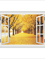 3D Wall Stickers Wall Decals Style Creative Maple Grove PVC Wall Stickers
