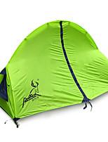 1 человек Световой тент Двойная Складной тент Однокомнатная Палатка Стекловолокно Оксфорд Водонепроницаемый Переносной-Пешеходный туризм