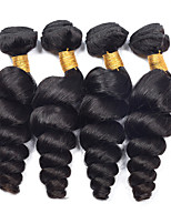 Natural Color Hair Weaves Malaysian Texture Loose Wave 12 Months 4 Pieces hair weaves