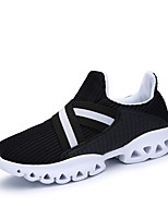 Men's Athletic Shoes Spring Fall Comfort PU Outdoor Athletic Running Flat Heel Lace-up White Black Orange