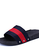Men's Slippers & Flip-Flops Couple Shoes Light Soles Fabric Casual Flat Heel Black/White Green Red Walking Shoes