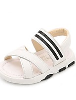 Kids' Baby Sandals First Walkers Leatherette Summer Casual First Walkers Flat Heel White Black Flat