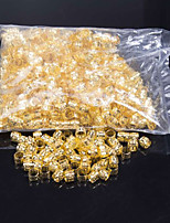 beautiful beads for crochet braids Dreadlock Hair Beads yellow and white Rings for Synthetic Braiding Hair in Color For Synthetic Hairpiece 1000pcs