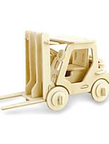 Пазлы 3D пазлы Строительные блоки Игрушки своими руками Автопогрузчик Дерево Модели и конструкторы