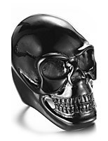 Ring Statement Rings Euramerican Fashion Casual Punk Hip-Hop Personalized Rock Titanium Steel Skull / Skeleton Jewelry For Men Party