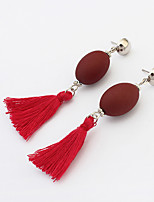 Drop Earrings Tassels Euramerican Acrylic Alloy Oval Jewelry For Daily 1 Pair