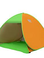 3-4 personnes Tente Unique Tente automatique Une pièce Tente de camping Acier inoxydable Portable-Camping Voyage