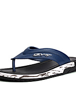 Men's Slippers & Flip-Flops Summer Light Soles PU Casual Royal Blue Black Walking